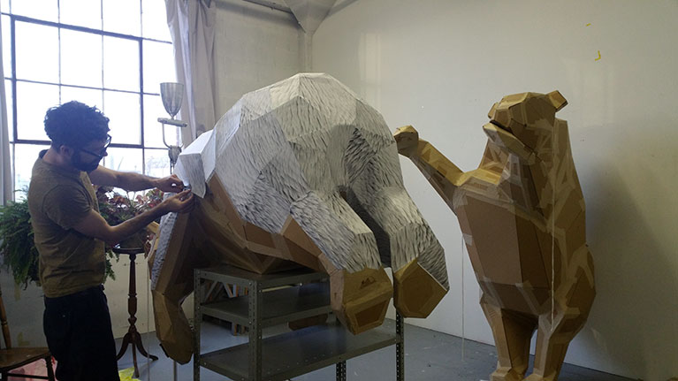 Guillaume Brisson-Darveau Sculpture 3D carton